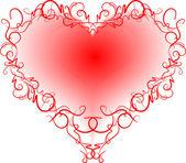 Abstrakt hjärta. — Stockvektor