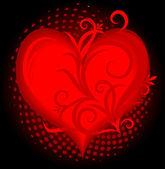 Heart background. — Stock Vector