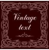Vintage tarzı dekoratif vektör çerçeve — Stok Vektör