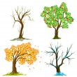 Stock Vector: Trees in seasons