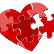 Royalty-Free Stock Vector Image: Valentine\'s heart puzzle