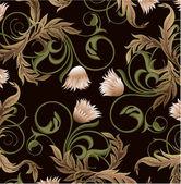Retro-stylad floral bakgrund — Stockvektor