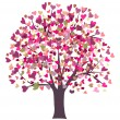 Love symbol tree - Stockvectorbeeld