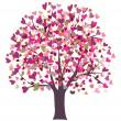 Love symbol tree — Stock Vector