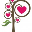 Heart tree — Stockvectorbeeld
