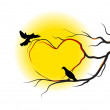 Royalty-Free Stock Imagen vectorial: Bird\'s love
