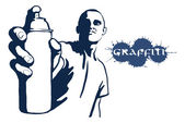 Graffiti spray can — Stock Vector