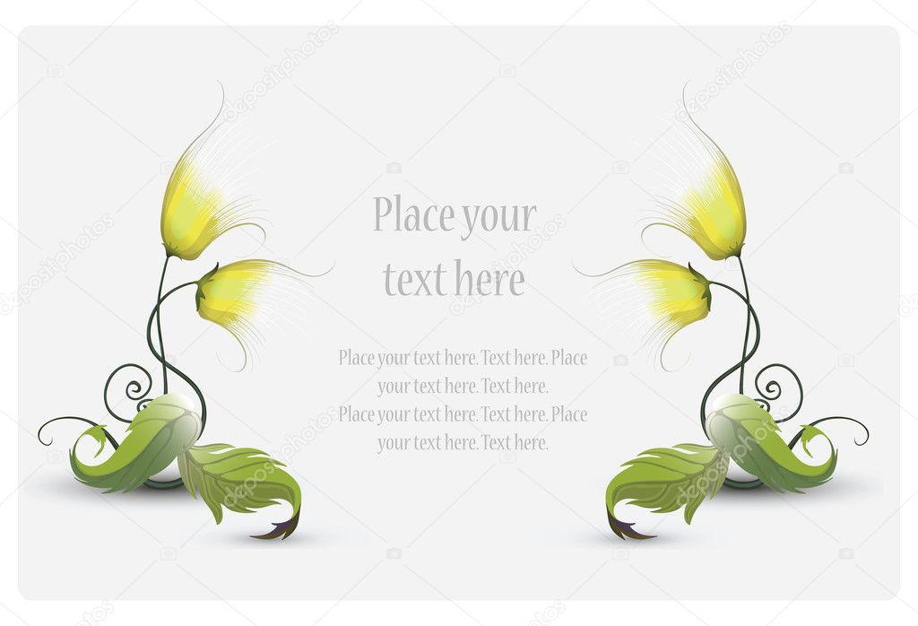 Flower frame — Stock Vector #1153918