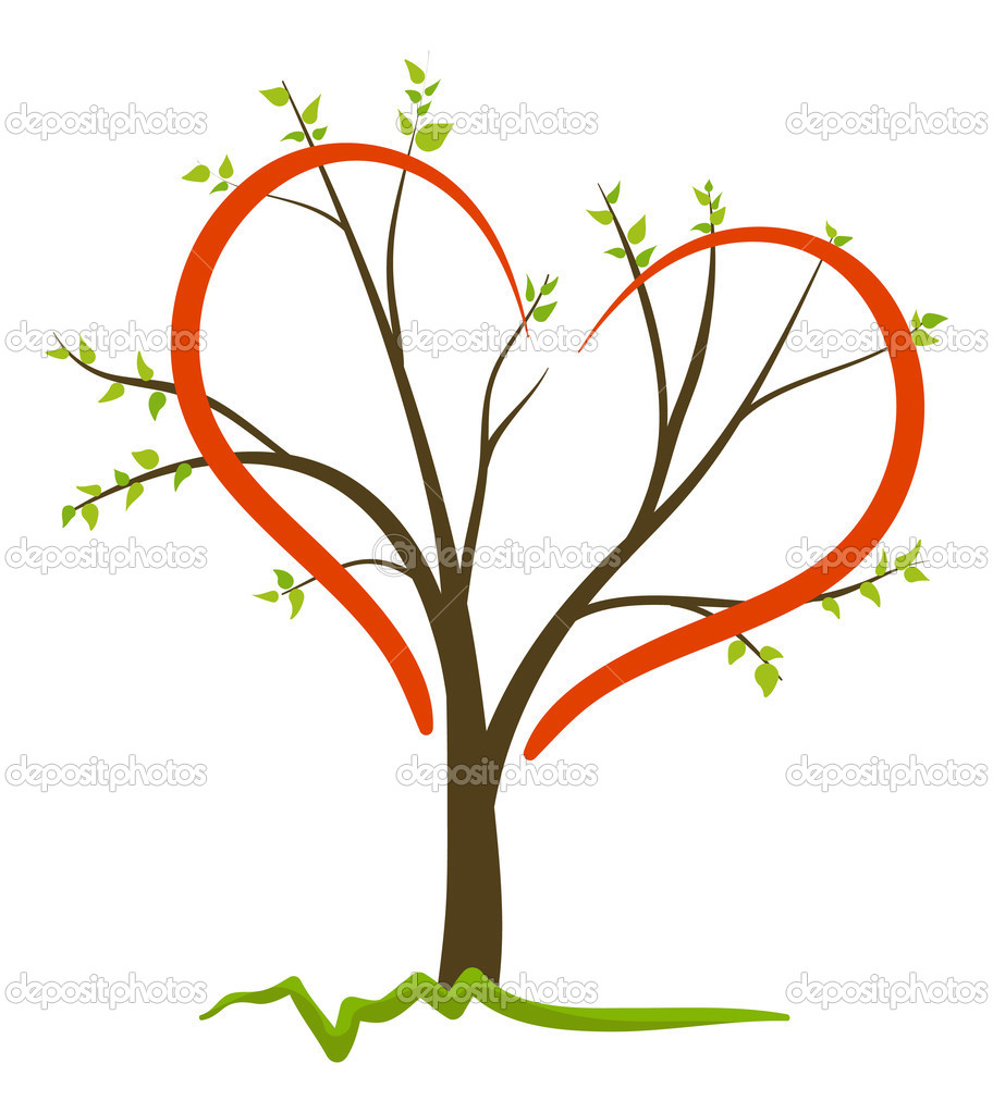 Tree love symbol vector image — Stock Vector #1157341