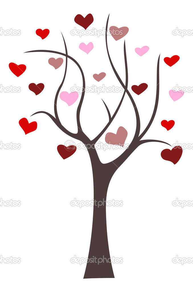 Heart abstract tree vector image — Stock Vector #1157348
