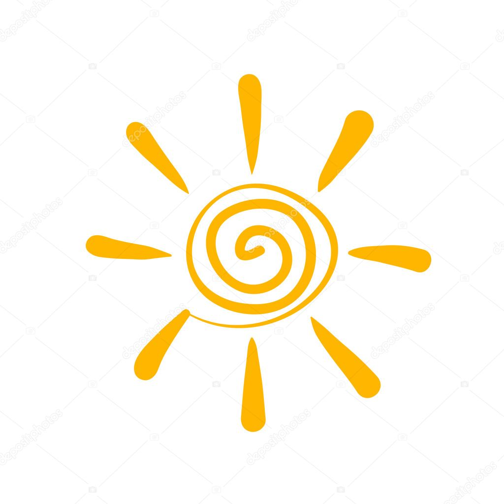 Yellow sun symbol vector image   Stock Vector #1157865