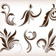 Floral elements - Stock Vector