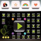Design buttons — Stock Vector