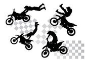 Moto silhouettes — Stock Vector