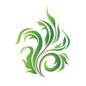 Floral vector green decor. — Stock Vector