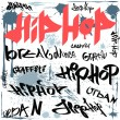 Hip-hop graffiti vector urban background — Stock Vector