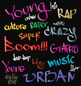 Hip-hop graffiti vector urban background — Vecteur