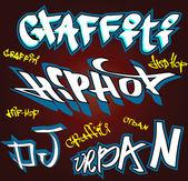 Graffiti hip hop vettoriale background urbano — Vettoriale Stock