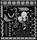Vector floral decor. — Stock Vector