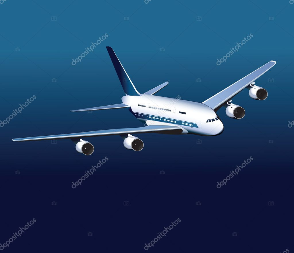   Vector airplane  Stock Vector #1333728
