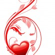 Vector de stock : Love heart. Valentine day.