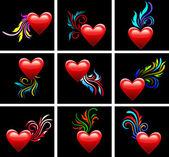 Valentin de la journée. symbole du coeur amour — Vecteur
