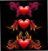 Den svatého Valentýna. symbol srdce lásky — Stock vektor