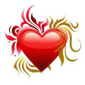 Amor corazón. día de san valentín. — Vector de stock