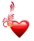 Love heart. Valentine day. — Stock Vector