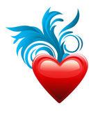 心が大好きです。バレンタインの日. — ストックベクタ