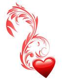 любовь сердца. день святого валентина. — Cтоковый вектор