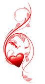 Miłość serca. walentynki. — Wektor stockowy