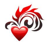 älska hjärtat. alla hjärtans dag. — Stockvektor