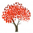 Valentine tree design — Stockvector #1556675