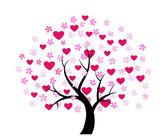 Disegno dell'albero di san valentino — Vettoriale Stock