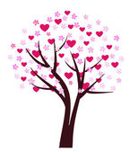 Valentine plant design — 图库矢量图片