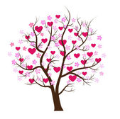 Valentine tree design — Vector de stock