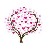 Projeto de árvore dos namorados — Vetor de Stock