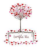 Валентина дерево дизайн — Cтоковый вектор