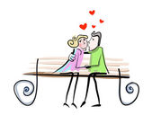 Couple love — Stock Vector