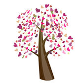Valentine tree design — Stock Vector