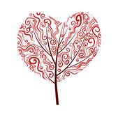 Valentine tree design — Stock Vector