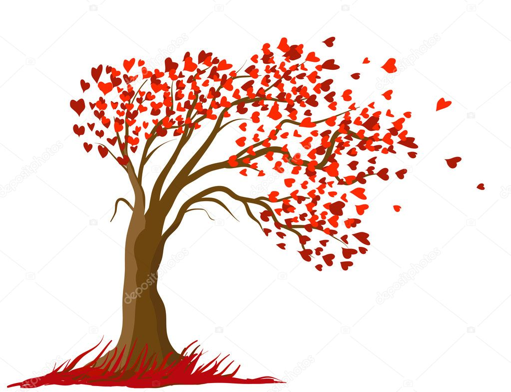 Valentine tree design vector illustration — Stock Vector #1556674