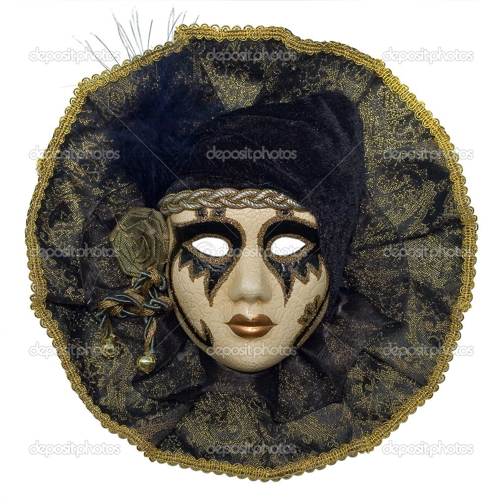 Venetian mask with jewelry and brilliants and pearls  Stock Photo #1059923