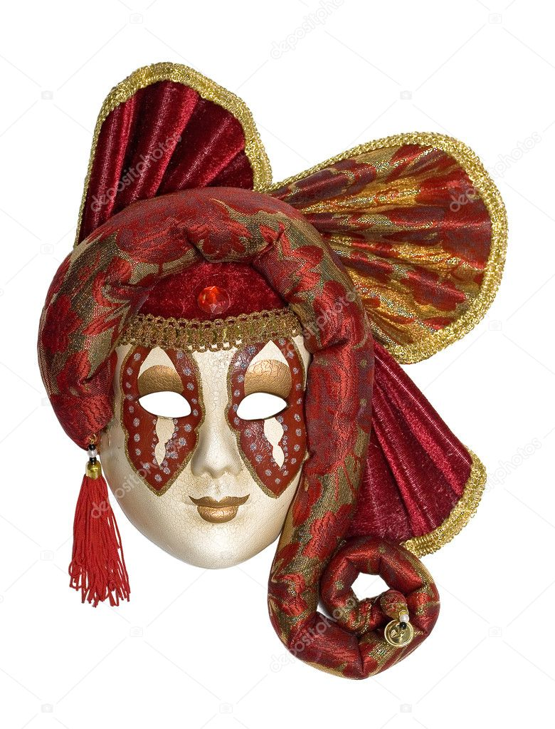 Venetian mask with jewelry and brilliants and pearls — Stock Photo #1060366
