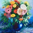 Bouquet of wild flowers in a vase — 图库照片