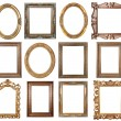 Royalty-Free Stock Photo: Oval gold picture frame