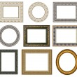 Oval gold picture frame — Stock Photo #1127869