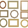 Oval gold picture frame — Stock Photo #1127871