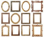 Ovale gold Bilderrahmen — Stockfoto